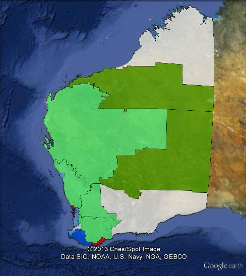 Results of the 2013 WA state election in regional Western Australia.