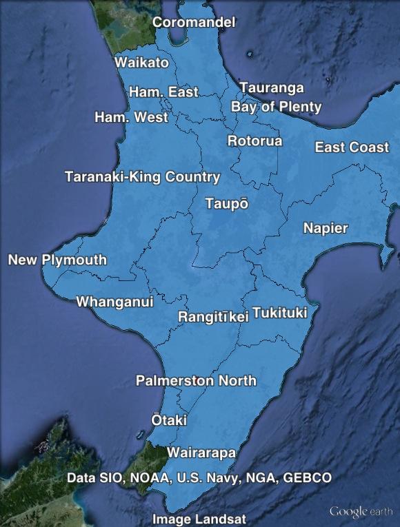 Northisland-region-map
