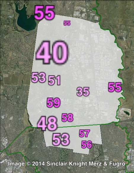 Labor primary votes at the 2011 Broadmeadows by-election.