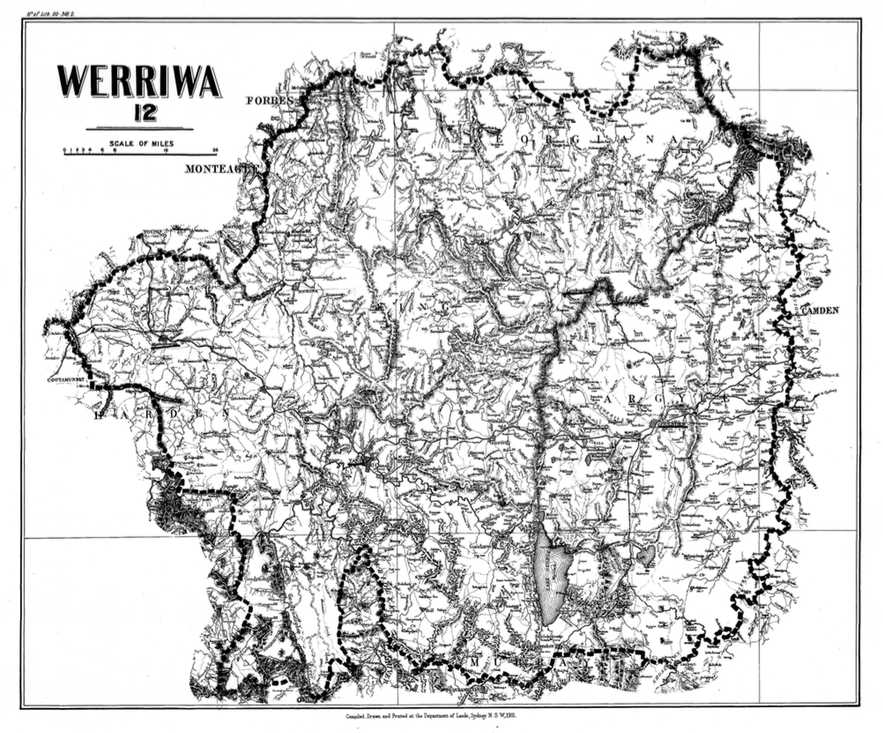 Werriwa boundaries, 1900 redistribution. Click to enlarge.