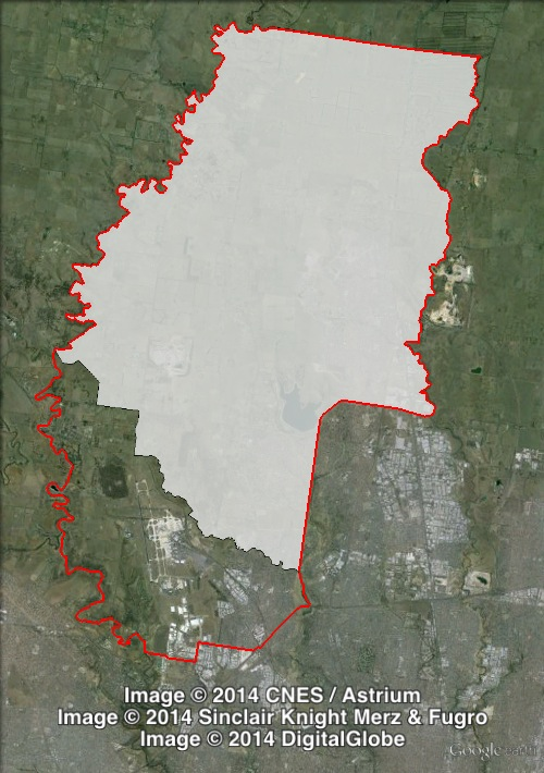 Map of Yuroke's 2010 and 2014 boundaries. 2010 boundaries marked as red lines, 2014 boundaries marked as white area. Click to enlarge.