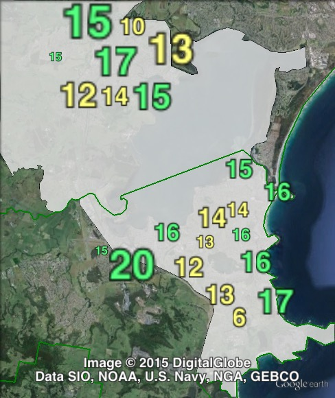 Greens primary votes in Shellharbour at the 2011 NSW state election.