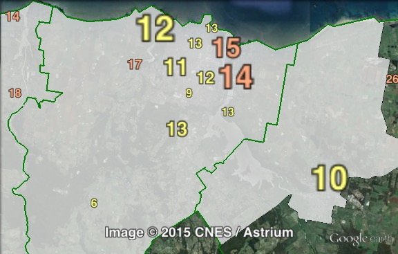 Primary votes for independent candidate Carolynn Jamieson in Mersey at the 2009 Legislative Council election.