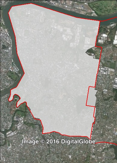 Map of Morningside's 2012 and 2016 boundaries. 2012 boundaries marked as red lines, 2016 boundaries marked as white area. Click to enlarge.