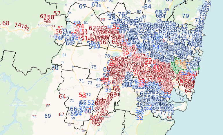 Local government boundaries nsw map